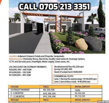Dpkay Estate, One Minute Drive From Shoprite (novare Mall), Sangotedo, Ajah, Lagos, Residential Land for Sale