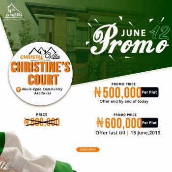 Christines Court-free Trade Zone, Abule Egan, Akodo Ise, Ibeju Lekki, Lagos, Residential Land for Sale