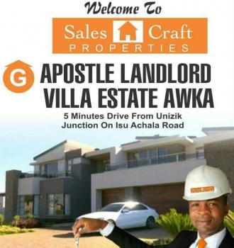 Land in a Fast Developing Area, on Isu Achala Road, a Few Minutes From Unizik Junction, Awka, Anambra, Residential Land for Sale