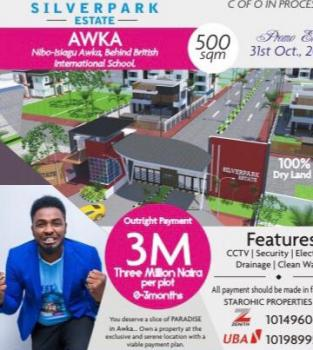 Land in Awka South Near State House, Along Nibo Isi-agu Road After British Spring School, Awka, Anambra, Residential Land for Sale