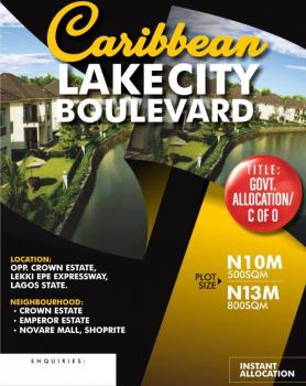 Waterfront Land Opposite Shoprite, a Few Minutes From The Expressway Near Shoprite, Sangotedo, Ajah, Lagos, Residential Land for Sale