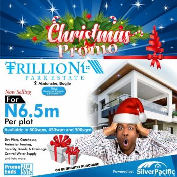 Trillion Park Estate; 100% Dry Land with Instant Allocation, in a Well Developed Area with High Returns on Investment, Located in The Serene Area of Bogije, a Place That Welcomes You Home.with Proximity to Pan African University, Shoprite, The Lekki British School, Farapark, Greenspring School, Coscharis Motors, Lekki, Lagos, Ajah, Lagos, Residential Land for Sale