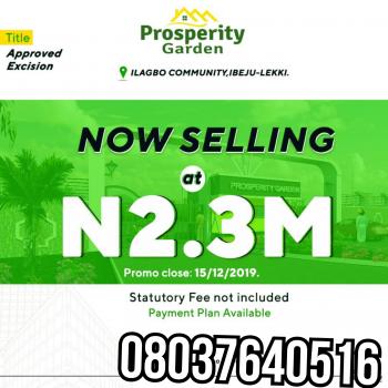 Prosperity Garden, Ilagbo Community, Ikegun, Ibeju Lekki, Lagos, Mixed-use Land for Sale