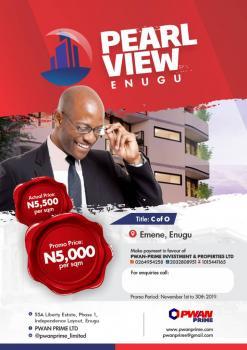 Estate Land for Sale in Enugu  C of O, Actual Location: Nkwubor Nike, Emene, Off Abakiliki Expressway, Enugu State.  Title Certificate of Occupancy (c of O), Emene, Enugu, Enugu, Residential Land for Sale