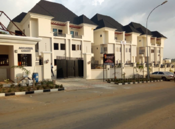 5bedroom Luxury Terrace Duplex with a Bq, After Coza Church, Guzape District, Abuja, Terraced Duplex for Rent
