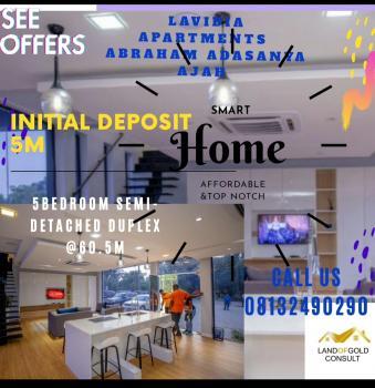 Spacious & Smart 5 Bedroom Semi-detached Duplex in a Great Location+bq, Ajah, Lagos, Semi-detached Duplex for Sale