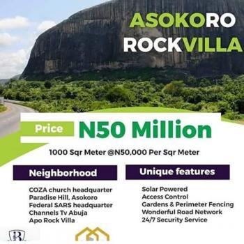 Plot of Land, Asoroko Rock Abuja, Asokoro District, Abuja, Residential Land for Sale