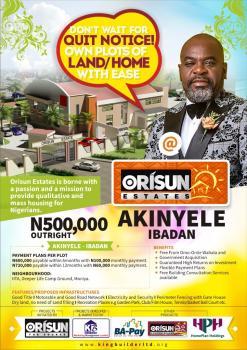 Land, Old Oyo Road Onidundu Orisun Estate Ibadan, Akinyele, Oyo, Land for Sale