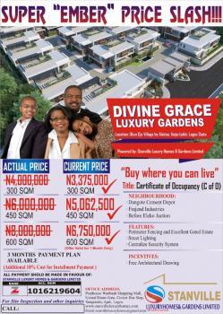 Land with C of O  Divine Grace Luxury Gardens, Okun Ojeh Village By Alatise, Alatise, Ibeju Lekki, Lagos, Residential Land for Sale