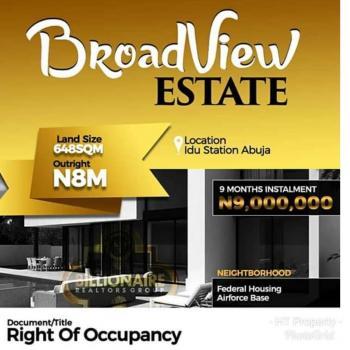 Estate Land, 10 Minutes Drive to Idu Railway Station, Idu Industrial, Abuja, Land for Sale