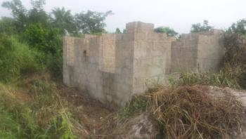 an Uncompleted Mini 2 Bedroom Building on Half Plot of Land, Owode, Yewa South, Ogun, Detached Bungalow for Sale