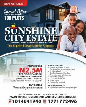 Sunshine City Estate, Omagwa, Port Harcourt, Rivers, Residential Land for Sale