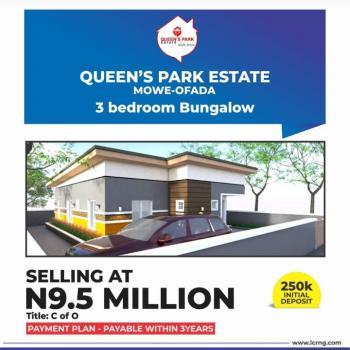 3 Bedroom Bungalow Queens Park, Mowe Ofada, Ogun, Detached Bungalow for Sale