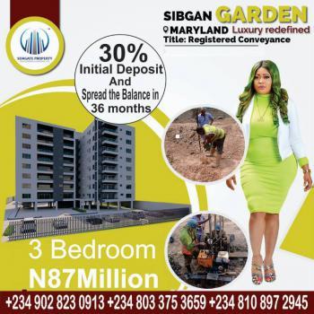 Luxury 3 Bedroom Flat, Sibgan Apartments, Onigbongbo, Maryland, Lagos, Flat for Sale