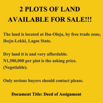 2 Full Plots Available, Ibeju Lekki, Lagos, Commercial Land for Sale
