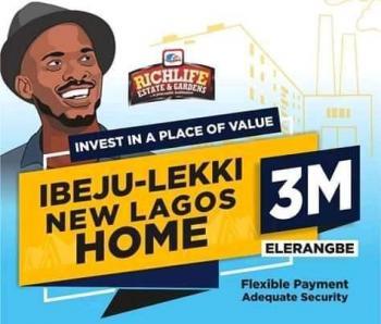 Richlife Land New Homes, Richlife Estate & Gardens New Lagos Homes, Eleranigbe, Ibeju Lekki, Lagos, Residential Land for Sale