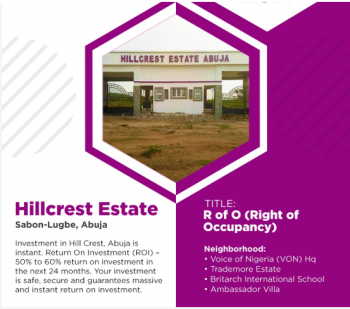 Ready to Build, Dry Land in Gated Estate, Hillcrest Estate, Along Keffi Village Road, Off Airport Road., Sabon Lugbe, Lugbe District, Abuja, Mixed-use Land for Sale