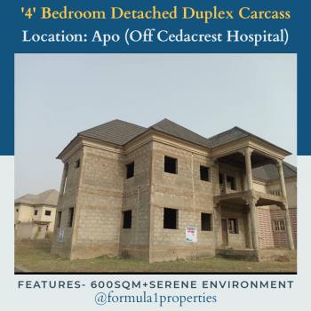 Solidly Built Detached Duplex Carcass, Behind Cedacrest Hospital, Apo, Abuja, Detached Duplex for Sale