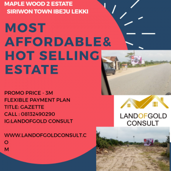 100% Dry Land, Down Payment of 500k,opposite Dangote Jetty, Shiriwon Town, Ibeju Lekki, Lagos, Mixed-use Land for Sale