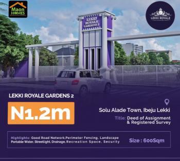 Lekki Royale Eleko, Solu Alade Street Off Eleko Beach Road By Eleko, Eleko, Ibeju Lekki, Lagos, Residential Land for Sale