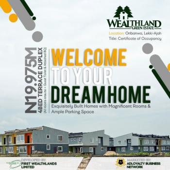 Wetland Green Estate, 5 Mins Drive From Dangote Refinery, Abraham Adesanya Estate, Ajah, Lagos, Terraced Duplex for Rent