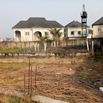 One Plot of Land with Foundation for Detached House with Block of Flat, Sangotedo, Ajah, Lagos, Residential Land for Sale