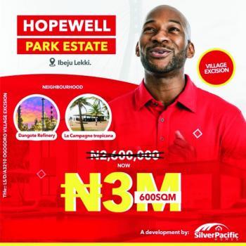 100% 600sqm Investment Dry Land, Hopewell Park Estate, Ibeju Lekki, Bogije, Ibeju Lekki, Lagos, Commercial Land for Sale