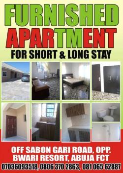 Furnished Apartment for Short and Long Stay, Sabon Gari Road, Opposite Bwari Resort, Bwari, Bwari, Abuja, Mini Flat for Rent