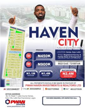 Estate Land, Close to Proposed Airport and Refinery Ilamija, Eleko, Ibeju Lekki, Lagos, Residential Land for Sale
