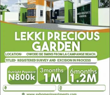 Esate Land, Dangote Refinery, Sea Port,la Campaigne Tropicana Beach Resort, Eleko, Ibeju Lekki, Lagos, Residential Land for Sale