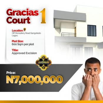Gracias Courts, Behind The Biggest Mall (shoprite) Off Monastery Road, Sangotedo, Ajah, Lagos, Residential Land for Sale