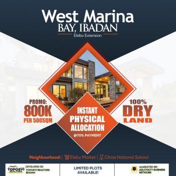 West Marina Bay, Elebu Extension, Ibadan, Oyo, Residential Land for Sale