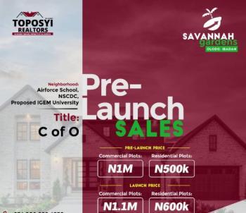 Savannah Garden, Agbowo, Ibadan, Oyo, Mixed-use Land for Sale