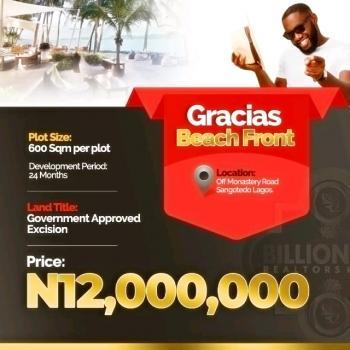 Estate Land, Gracias Beach Front, Sangotedo, Ajah, Lagos, Residential Land for Sale