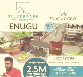 C of O Land, Ready to Build, Near Caritas University Airport Road, Emene, Enugu, Enugu, Residential Land for Sale