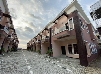 Brand New 4 Bedroom Terrace with Bq, Cheveron Alternative Road, Lekki Expressway, Lekki, Lagos, Terraced Duplex for Rent