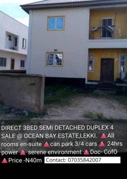 3 Bedrooms Semi Detached Duplex ( All Rooms En Suite), Ocean Bay Estate, Lekki Phase 1, Lekki, Lagos, Semi-detached Duplex for Sale