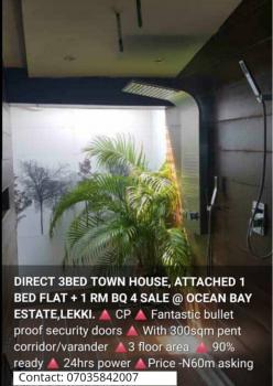 3 Bedrooms Town House Attached 1 Bedroom Flat & a Room Bq, Ocean Bay Estate, Lekki Phase 1, Lekki, Lagos, Detached Duplex for Sale