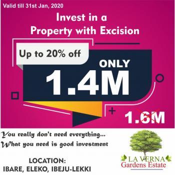 Estate Land, 2 Minutes Away From Pan Atlantic University, Close Amen Estate, Eleko, Ibeju Lekki, Lagos, Residential Land for Sale
