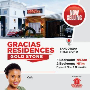 Spacious 2 Bedroom Flat Apartment, Title C of O, Sangotedo, Ajah, Lagos, Block of Flats for Sale