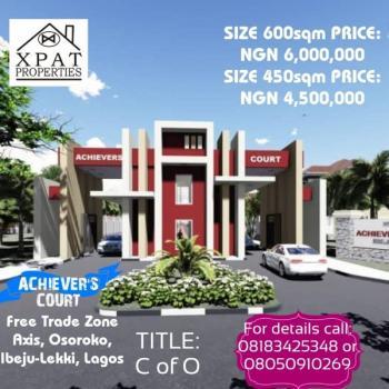Certificate of Occupancy Land, Achievers Court, Osoroko, Ibeju Lekki, Lagos, Residential Land for Sale