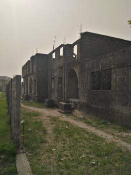 Carcass 2 Wings of 4 Bedroom Duplex Sitting on 998m2, United Estate, Sangotedo, Ajah, Lagos, Semi-detached Duplex for Sale