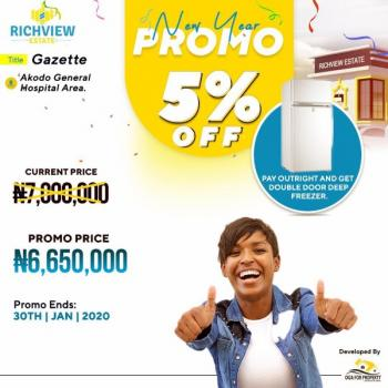Richview Estate, 15mins Drive From Dangote's Refinery, Alatise, Ibeju Lekki, Lagos, Mixed-use Land for Sale