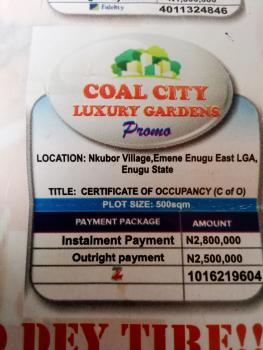 Land with C of O, Nkubor Village Emene Enugu East Lga, Emene, Enugu, Enugu, Residential Land for Sale
