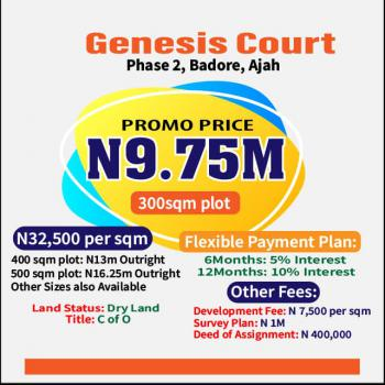 Estate Land, Genesis Court, Phase 2,, Badore, Ajah, Lagos, Residential Land for Sale