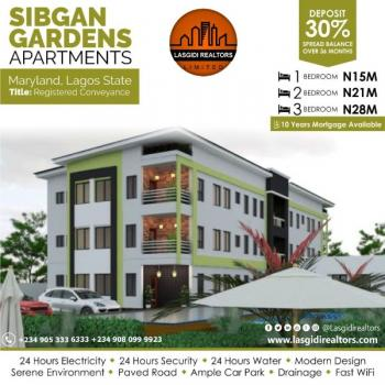 3 Bedroom Apartment, Sibgan Garden Apartment, Onigbongbo, Maryland, Lagos, House for Sale