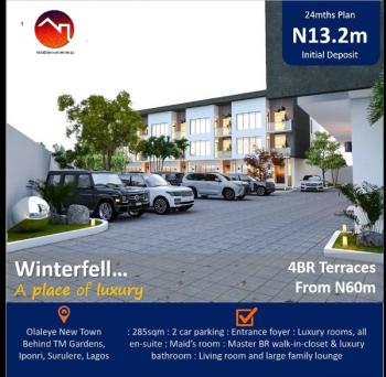 4bedroom Terrace Duplex, Olaleye New Town in Winterfell Estate, Iponri, Surulere, Lagos, Terraced Duplex for Sale
