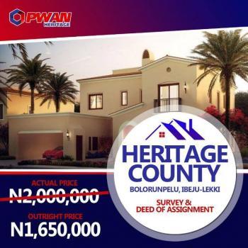 Plots of Land, Bolorunpelu, Heritage County Estate, Ibeju Lekki, Lagos, Residential Land for Sale