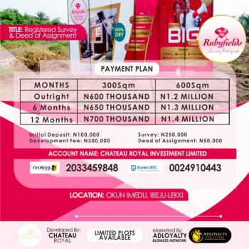 Luxury and Affordable Dry Land, Buy 5 Get 1free., Okun Imedu, Ibeju Lekki, Okun Imedu, Ibeju Lekki, Lagos, Residential Land for Sale