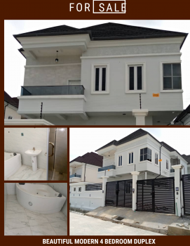 Modern 4 Bedroom Detached Duplex with Good Facilities, Chevron Alternative Drive Before Second Toll Gate, Lekki Phase 2, Lekki, Lagos, Detached Duplex for Sale
